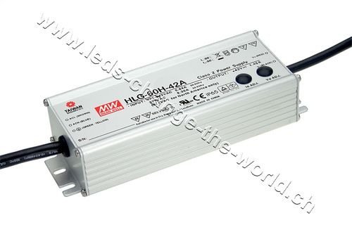 MeanWell LED Netzteil 24VDC, 2.5Ah, 60W, IP65, Serie HLG-60A