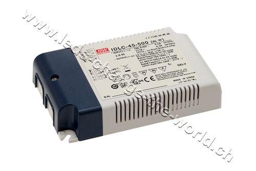 MeanWell LED Treiber 38-64VDC, 700mAh, 44.8W, Serie IDLC-45