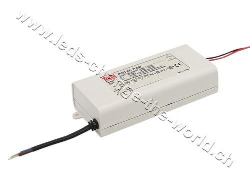 MeanWell LED Treiber 45-80VDC, 500mAh, 40W, IP42, Serie PCD-40