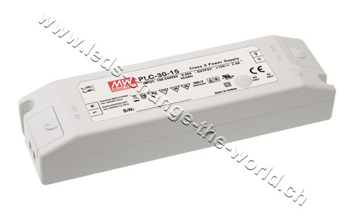 MeanWell LED Netzteil 24VDC, 3.21Ah, 30W, Serie PLC-30