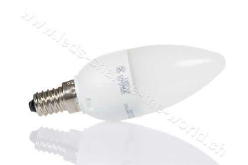 Retro LED Kerze, E14, 3.6W, 280lm, 160°, warmweiss (2700K)