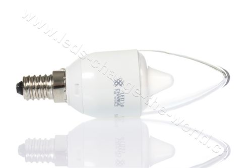 Retro LED Kerze, E14, 6W, 470lm, 160°, dimmbar, warmweiss (2700K)