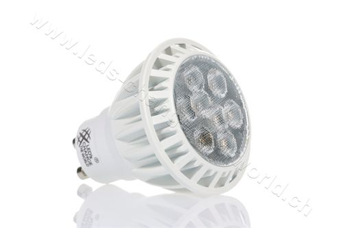 Retro LED Spot, GU10, 8W, 460lm, 36°, dimmbar, warmweiss (2700K)