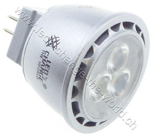 LED Spot, GU4, 2.5W,200lm, 30°, warmweiss (2700K)