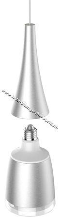 Sengled Horn Lampenfassung silber für Sengled Flex Smart Light, E27, max. 30W – Bild 2