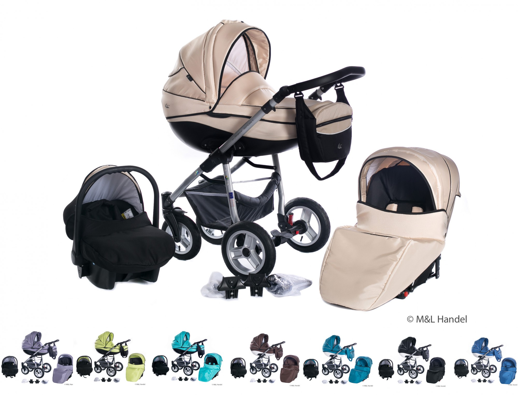 kombi kinderwagen baby boat 3in1 mit babyschale isofix. Black Bedroom Furniture Sets. Home Design Ideas