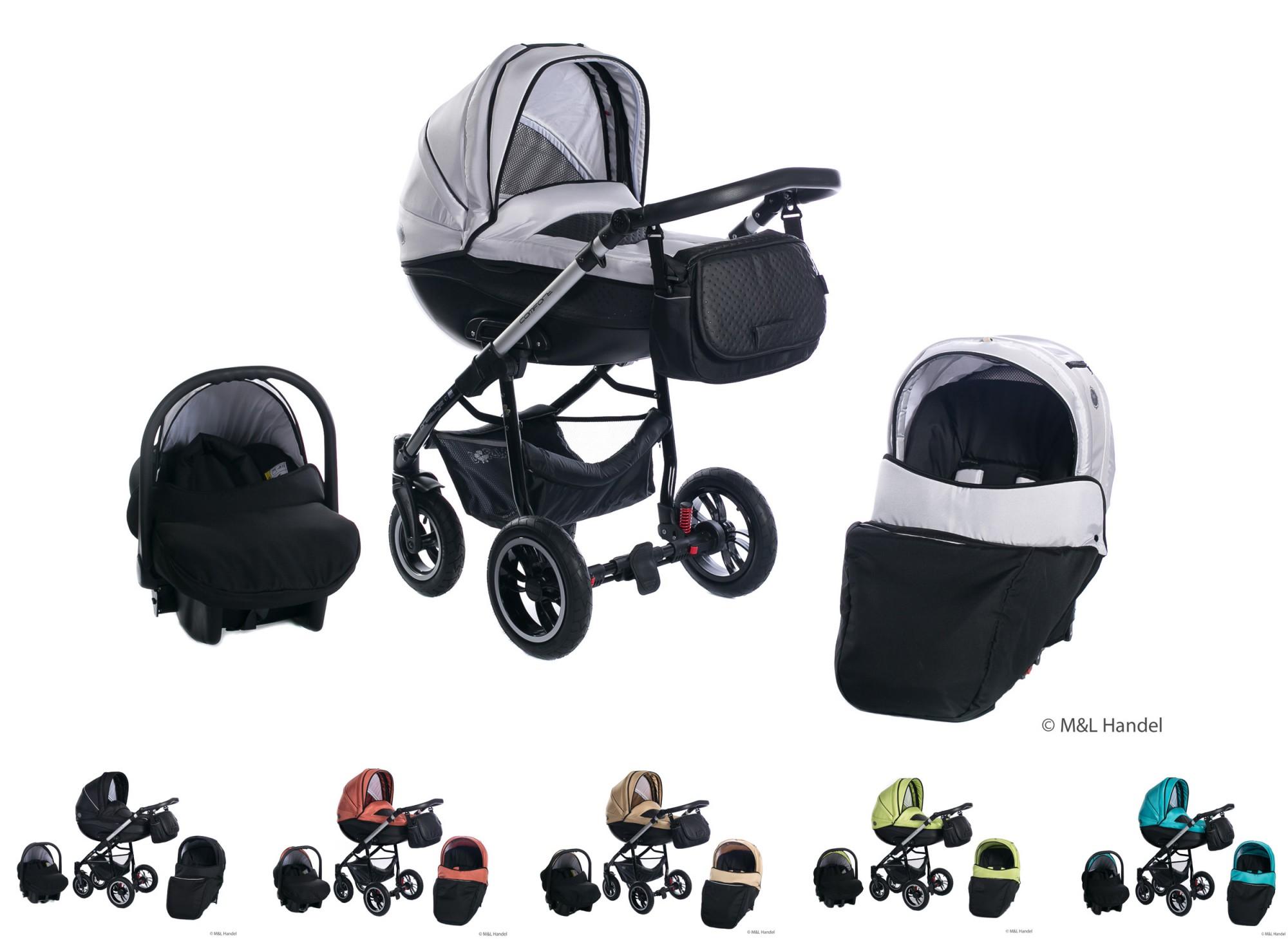 Clamaro Basic Comfort-VIP Kombi-Kinderwagen 3in1 mit ...