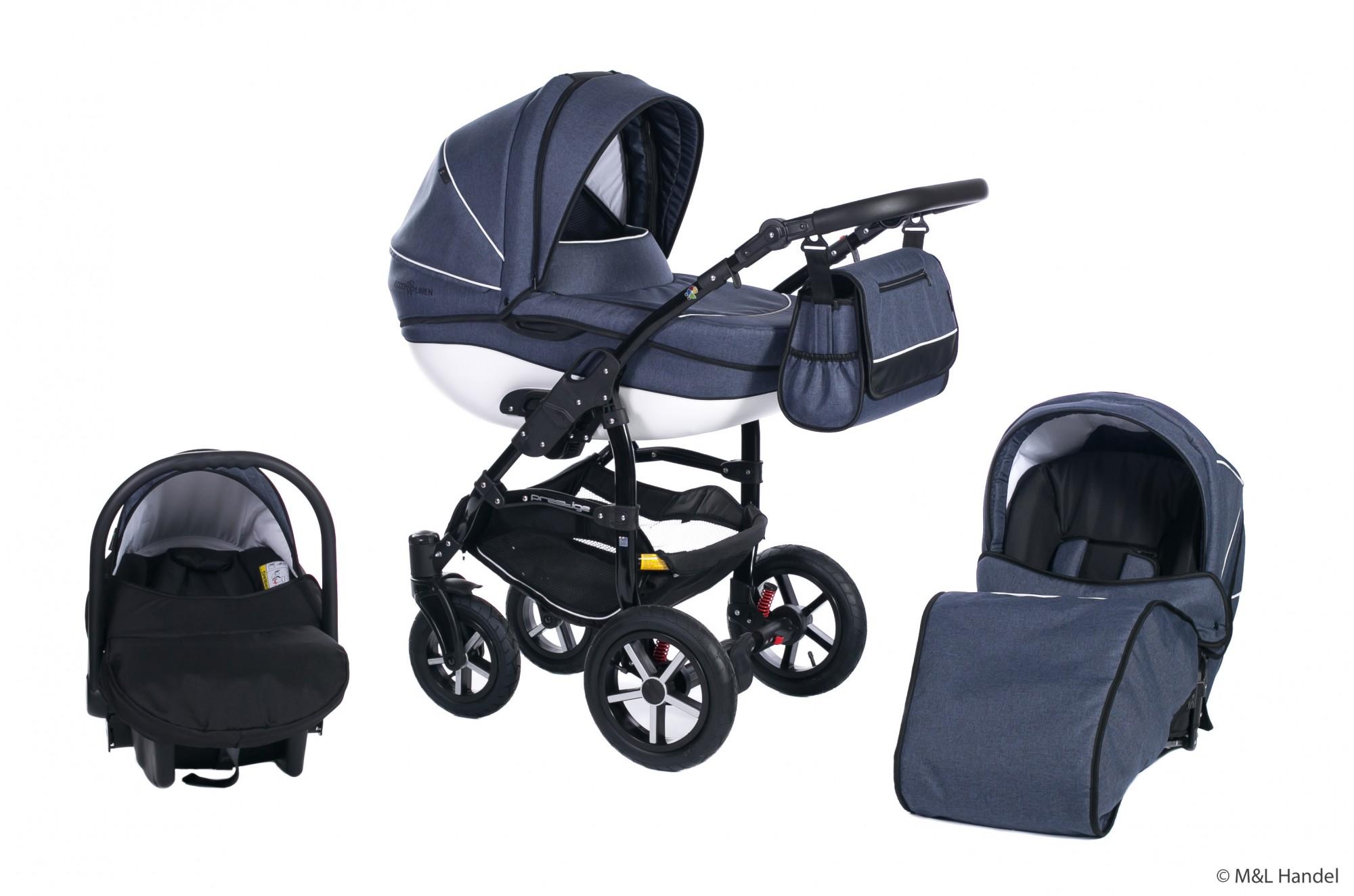 clamaro kombi kinderwagen model prestige collection ecco linen 3in1 mit babyschale. Black Bedroom Furniture Sets. Home Design Ideas
