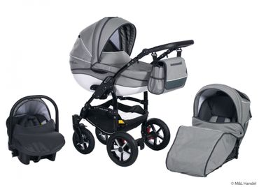 Kombi-Kinderwagen Model Prestige collection Ecco-Linen 3in1 mit Babyschale – Bild 9