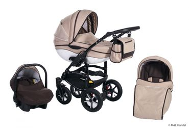 Kombi-Kinderwagen Model Prestige collection Ecco-Linen 3in1 mit Babyschale – Bild 12