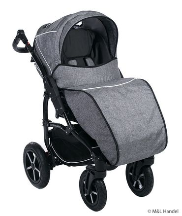 Kombi-Kinderwagen Model Prestige collection Ecco-Linen 3in1 mit Babyschale – Bild 7