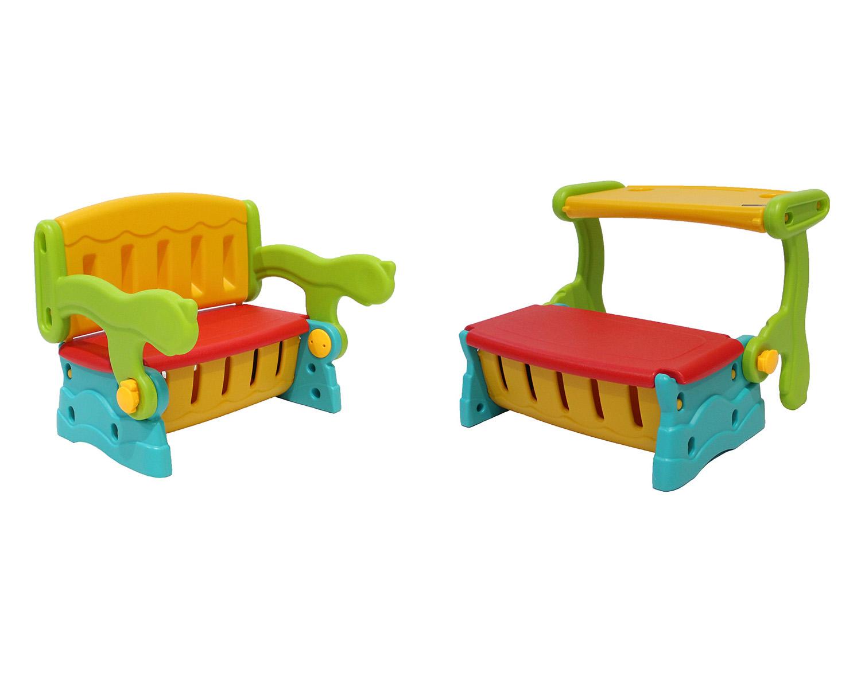Sitzbank Maltisch Spieltruhe3in1 Spielen Malen Sitzen Kinder Kleinkind Indoor Outdoor Kinderzimmer Garten Truhe