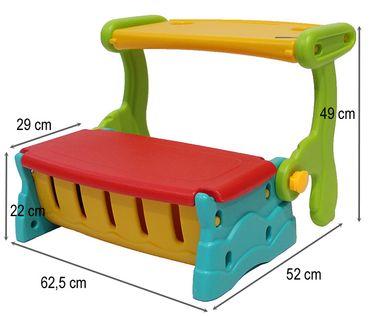 Sitzbank, Maltisch, Spieltruhe,3in1, spielen, malen, sitzen, Kinder, Kleinkind, indoor, outdoor, Kinderzimmer, Garten, Truhe