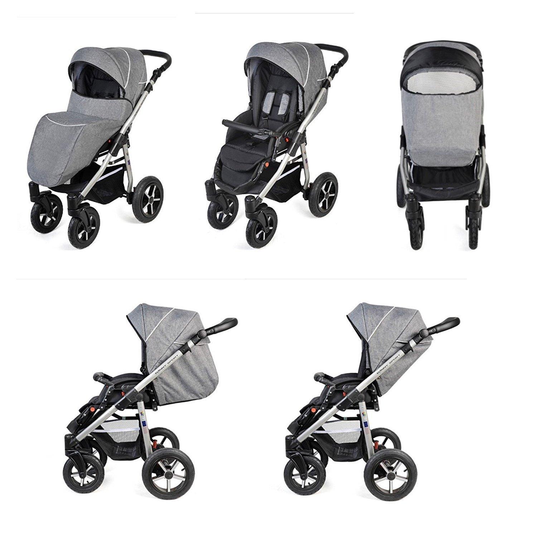 clamaro kombikinderwagen varita kinderwagen babywagen mit oder ohne babyschale kinderwagen. Black Bedroom Furniture Sets. Home Design Ideas