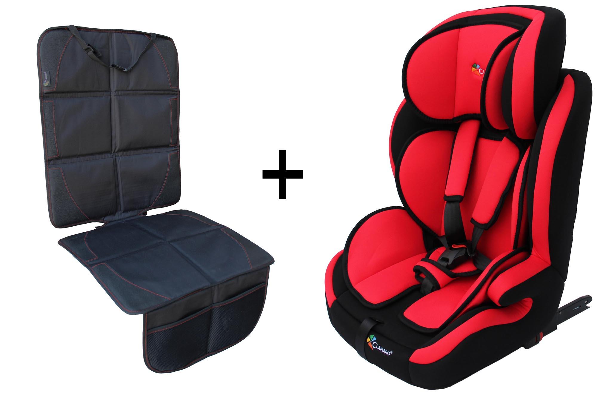 clamaro autokindersitz mit isofix von 9 bis 36 kg gruppe 1. Black Bedroom Furniture Sets. Home Design Ideas