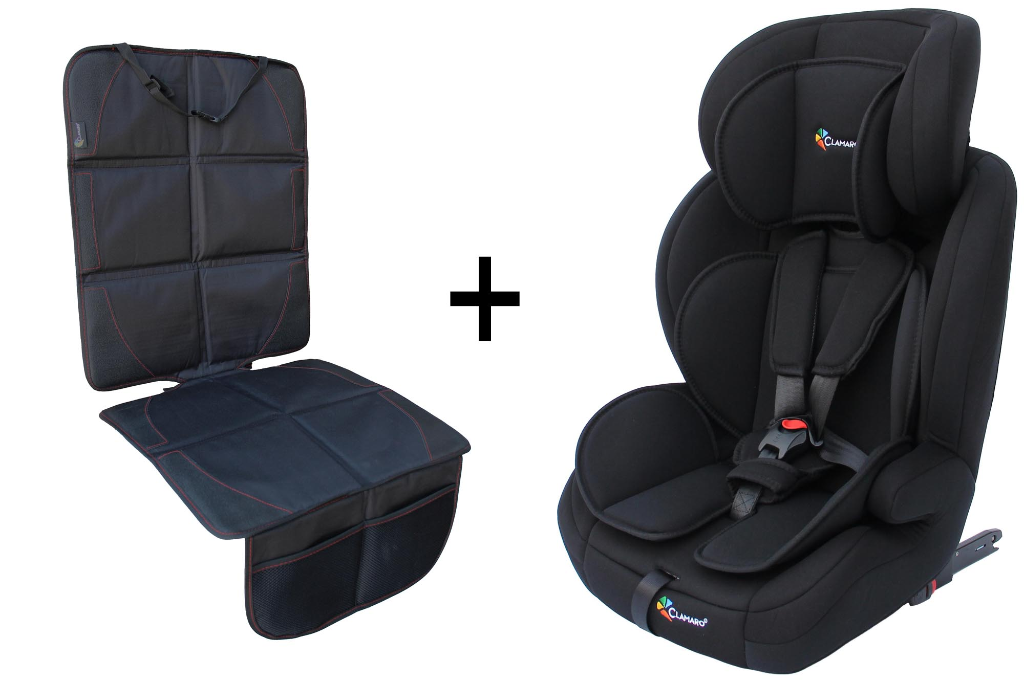 clamaro autokindersitz mit isofix von 9 bis 36 kg gruppe 1. Black Bedroom Furniture Sets. Home Design Ideas