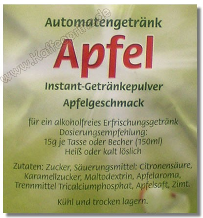 MILFORD Apfel Getränkepulver