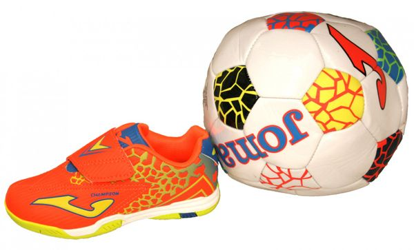 Joma Champion 608 jr Indoor Klett Kinder Hallenschuhe mit Ball