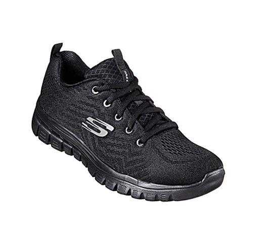SKECHERS Graceful Sneaker 12615 Schwarz BBK Damen – Bild 1