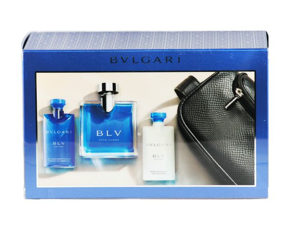 Bvlgari BLV SET EDT 100 ml + 75 ml SG + 75 ml AS Tasche