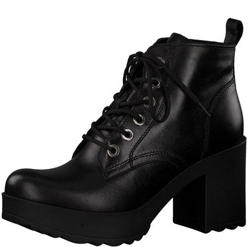 Tamaris Damen Stiefel 1-25238-21 Schwarz 001 Leder
