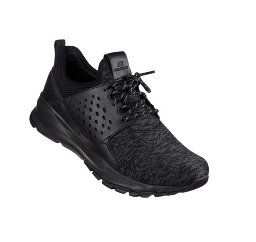 23fc0fef03c617 Skechers Relven Velton 65659 schwarz BBK Herren Fashion Sneaker Memory Foam  Neu