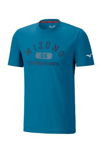 Mizuno Heritage 1906 Tee Herren K2GA8501 Blau 12 T-Shirt