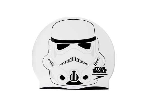 Speedo Junior Star Wars Cap Badekappe 8-08386C632 Weiss