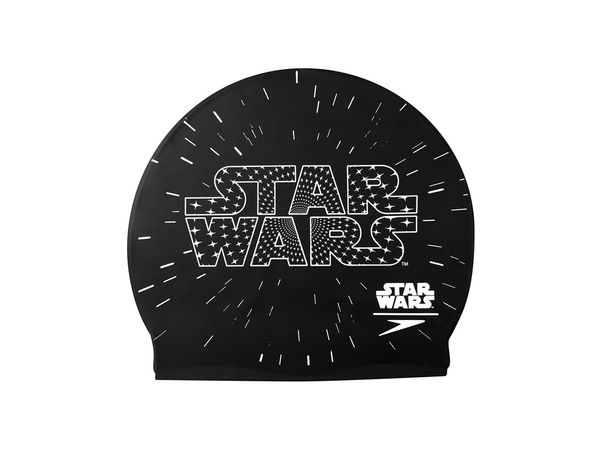 Speedo Junior Star Wars Cap Badekappe 8-08386C353 Schwarz