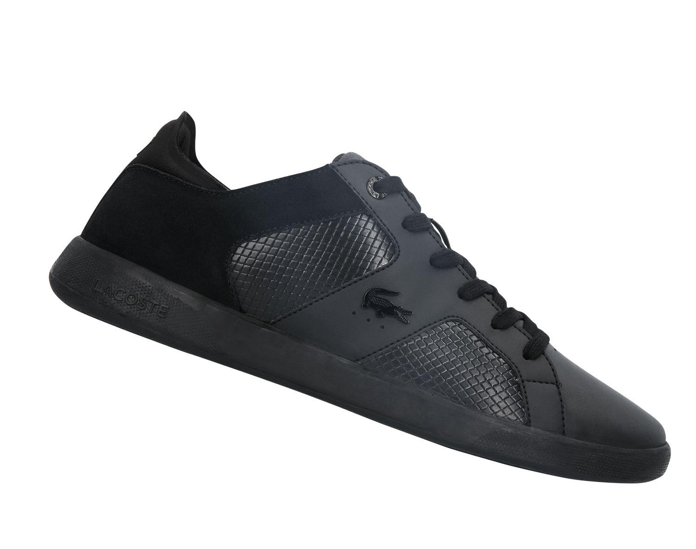 lacoste novas 318 schwarz 736spm0033312 herren sneaker. Black Bedroom Furniture Sets. Home Design Ideas