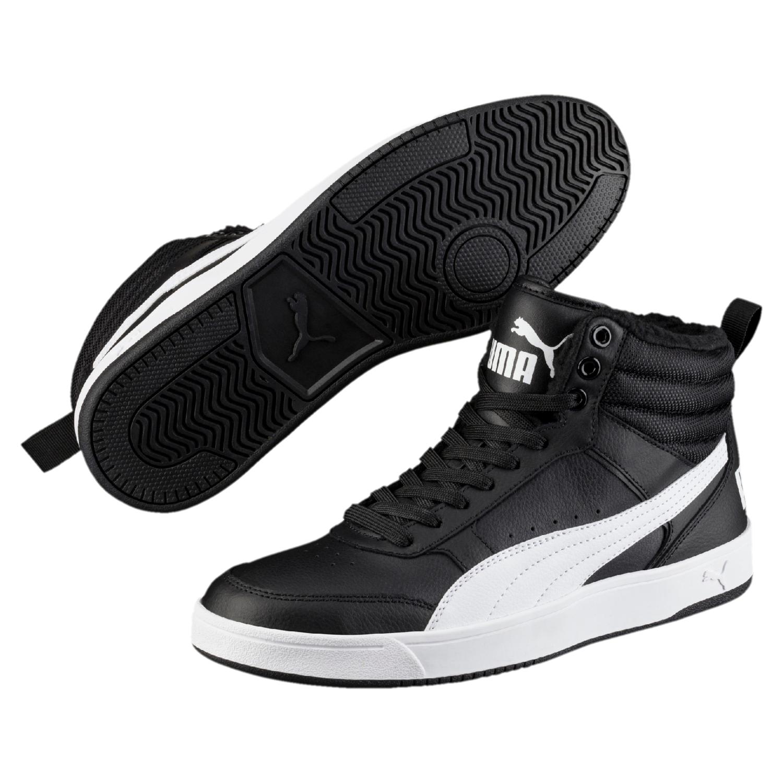 Puma Rebound Street High Top Sneaker 363717 Schwarz 05 Herrenschuhe