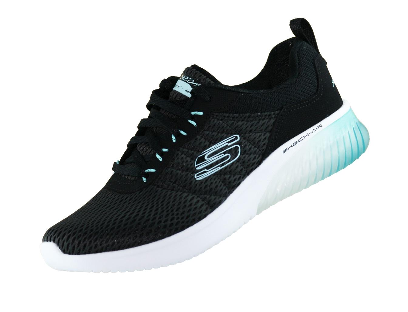 many fashionable latest casual shoes Skechers Skech Air Damen 13290 Schwarz BKAQ Memory Foam