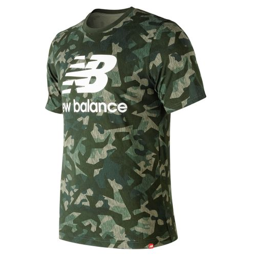 New Balance Herren Essential Shirt MT91546 Camo MGN   – Bild 1