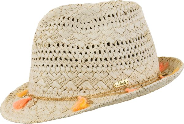 Chillouts Formosa Hat 1049 Orange Tassel 85 Damen Sommer Hut