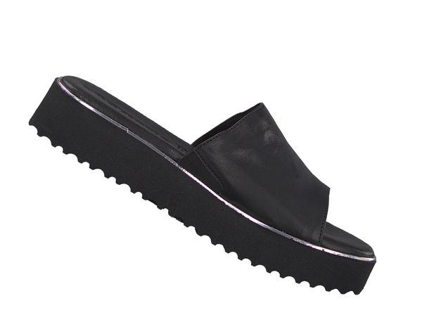 Tamaris Damen Leder Pantolette 1-27204-22 Schwarz 001 Sandale – Bild 2