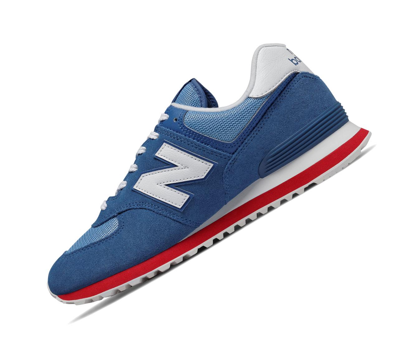 New Balance 574 Classics ML574ERG Blau Rot Retro Herren Sneaker
