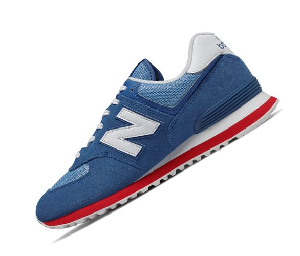 New Balance 574 Classics ML574ERG Blau Rot Retro Herren Sneaker  – Bild 1