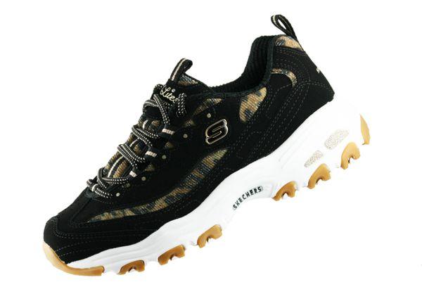 Skechers Damen D Lites 13158 Schwarz BKLD Fashion Sneaker