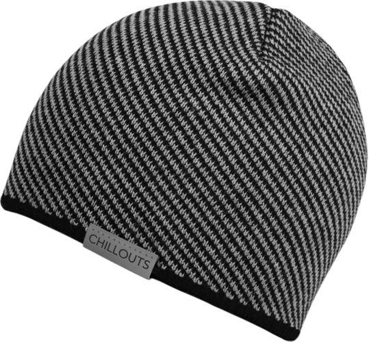 Chillouts Leader Hat 4349 Schwarz Grau 11 Winter Mütze