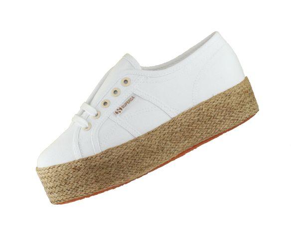 Superga 2790 Cotdrillropew S1117IW Weiss 901 Damen Sneaker