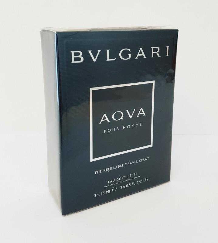 Bvlgari AQVA POUR HOMME Eau De Toilette 3x15 ml Neu&Ovp