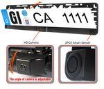 Einparkhilfe Rückfahrkamera Kombination Rückfahrsysstem Kennzeichen Nummernschild Rückfahrwarner Halterung YMPA EH-NSK 002