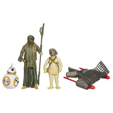 Hasbro B3956 - Star Wars The Force Awakens Bb-8 + Unkars Schläger + Jakku Scavenger Modell Set  – Bild 1