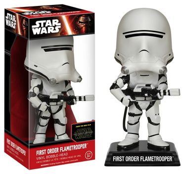 Funko 06243 - Wacky Wobblers Star Wars Episode VII The Force Awakens - First Order Flametrooper Wackelkopf, 15 cm – Bild 1