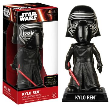 Funko 06244 - Wacky Wobblers Star Wars Episode VII The Force Awakens - Kylo Ren Wackelkopf Actionfigur, 15 cm