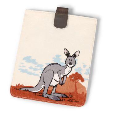 Nici 36414 - Plüschhülle (für iPad) Känguru