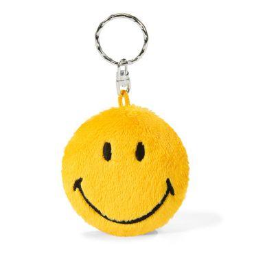 Nici 16012 - Smiley 6cm gelb Plüsch 2D Schlüsselanhänger
