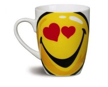 "Nici 36746 - Tasse Smileyworld ""I heart YOU"" , Durchmeser 8 x 10 cm Porzellan – Bild 2"