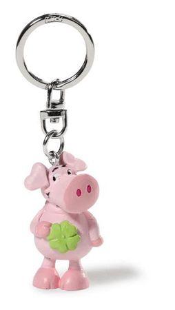 Nici 39529 - Schwein mit Kleeblatt PVC Figur 5cm SA keyfriends – Bild 1