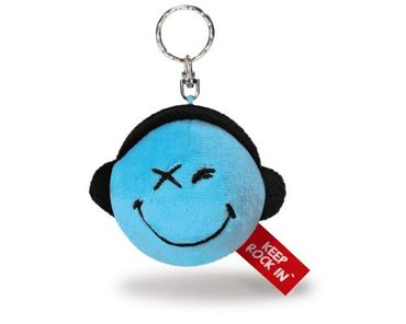 Nici 36728 - Nici Bp SA 6cm Smiley blau - Keep Rock In -
